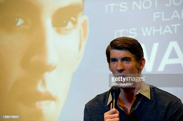 Olympic gold medal swimmer Michael Phelps of the US answers questions at a news conference February 8 2012 in New York Phelps discussed his Olympic...