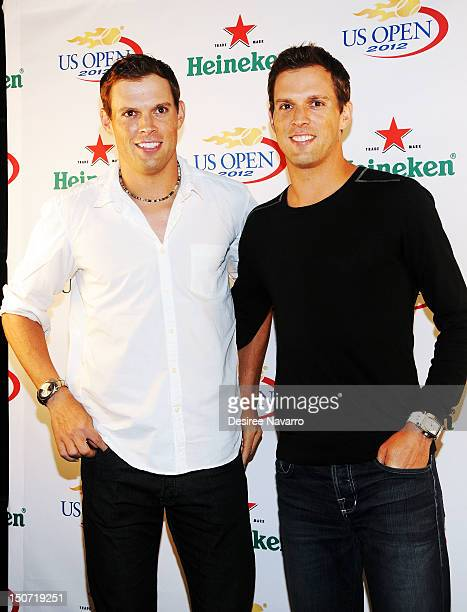 US Olympic Gold Medal tennis players Bob Bryan and Mike Bryan attend the Heineken 2012 US Open Player Party at the Gansevoort Park Hotel on August 24...