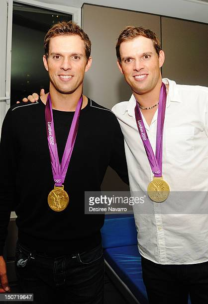 US Olympic Gold Medal Tennis Players Mike Bryan and Bob Bryan attend the Heineken 2012 US Open Player Party at the Gansevoort Park Hotel on August 24...