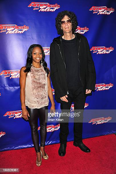 Olympic Gold Medal winner Gabrielle Gabby Douglas and radio personality Howard Stern attend the America's Got Talent post show red carpet at New...