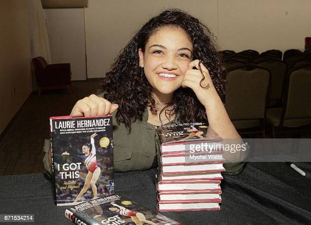 Olympic Gold Medal Winner in Gymnastics and Author Laurie Hernandez attends Book signing during the Palm Beach Book Festival at Florida Atlantic...