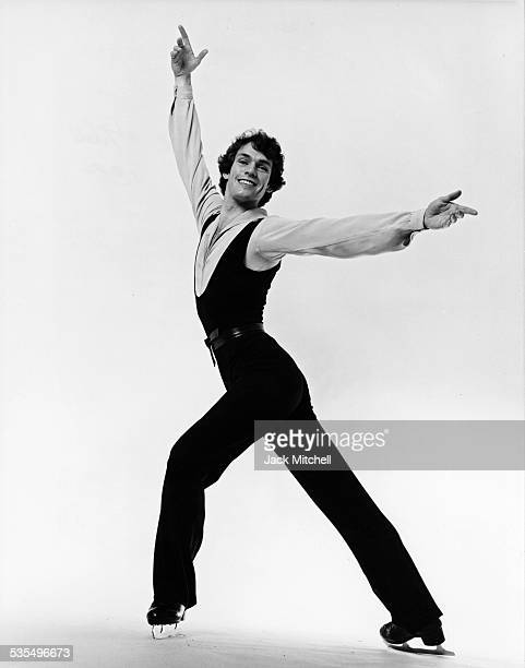 Olympic Gold Medal winning British figure skater John Curry in 1976