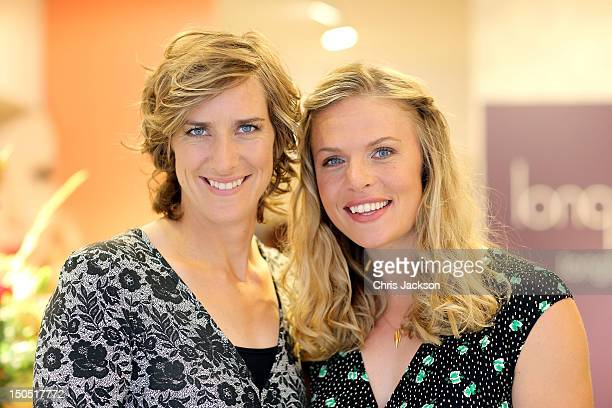 Olympic Gold Medal winning rowers Anna Watkins and Katherine Grainger pose for a photograph as fashion label Long Tall Sally hosts event to celebrate...