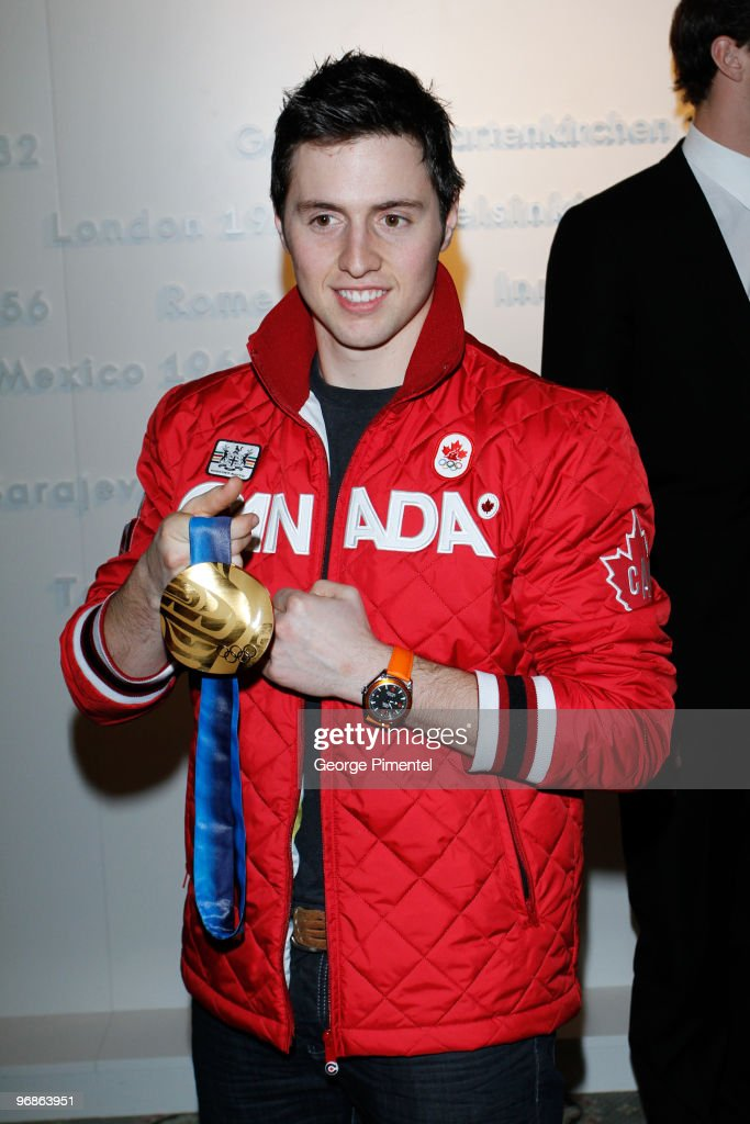 Olympic Gold Medalist Alexandre Bilodeau attends the OMEGA Cocktail Celebration at the Fairmont Hotel on February 18, 2010 in Vancouver, Canada.