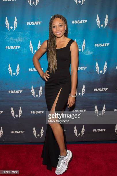 Olympic Gold Medalist Allyson Felix attends the 2017 USATF Black Tie Sneakers Gala at The Armory Foundation on November 2 2017 in New York City