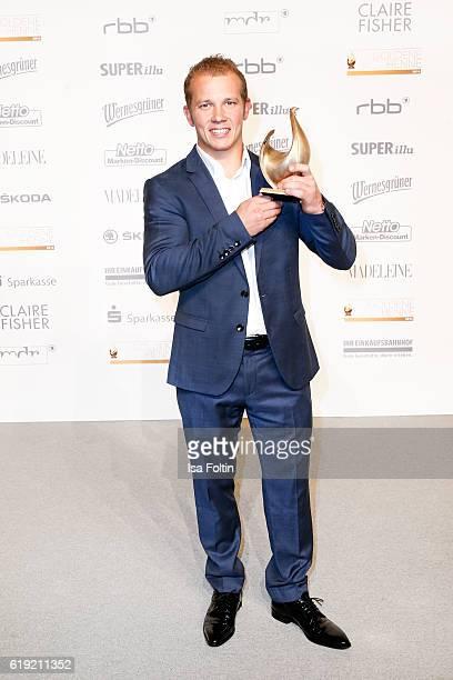 Olympic gold medalist and Goldene Henne award winner Florian Hambuechen attends the Goldene Henne on October 28, 2016 in Leipzig, Germany.
