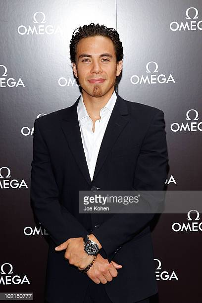 Olympic Gold Medalist Apolo Ohno attends the OMEGA hosted father's day appearance at Omega Flagship Boutique on June 16 2010 in New York City