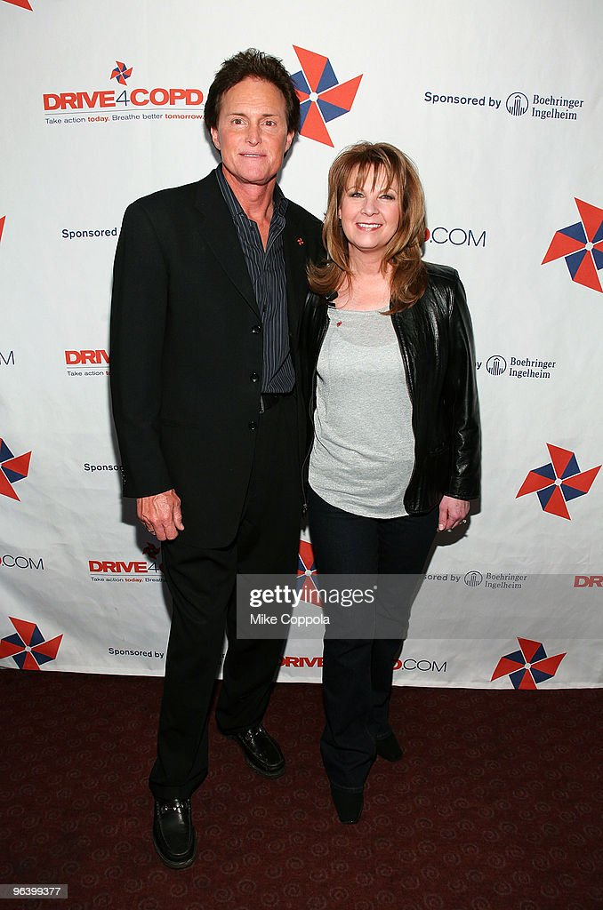 Olympic Gold Medalist Bruce Jenner (L) and country singer Patty Loveless attend the DRIVE4COPD Drivers Meeting at the ESPNZone on February 3, 2010 in New York City.