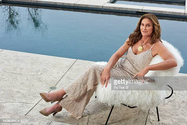 Olympic gold medalist Caitlyn Jenner is photographed with Olympic gold medal for Sports Illustrated on June 1 2016 at home in Malibu California...