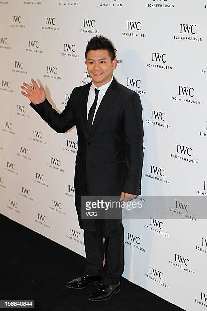 Olympic gold medalist Chen Yibing attends IWC flagship store opening ceremony at Parkview Green Shopping Mall on November 22 2012 in Beijing China