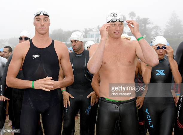 Olympic Gold Medalist Conor Dwyer participates in the Nautica Malibu Traithalon presented by Equinox at Zuma Beach on September 18 2016 in Malibu...
