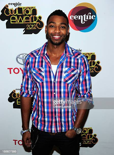 Olympic gold medalist Cullen Jones arrives to the Soul Train Awards after party at the Lavo Restaurant Nightclub at The Palazzo on November 8 2012 in...