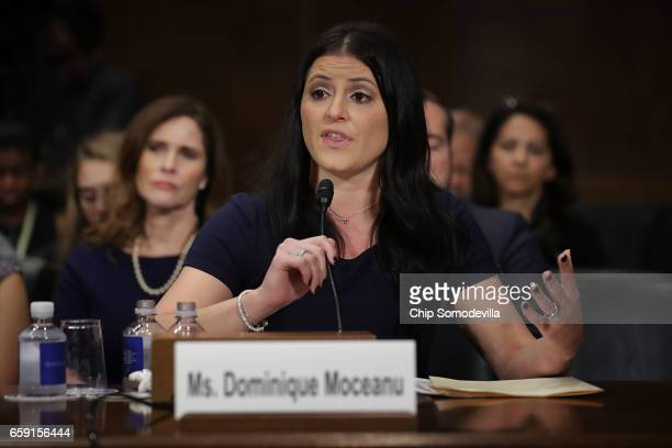 Olympic Gold Medalist Dominique Moceanu testifies before the Senate Judiciary Committee about sexual emotional and physical abuse by USA Gymnastics...