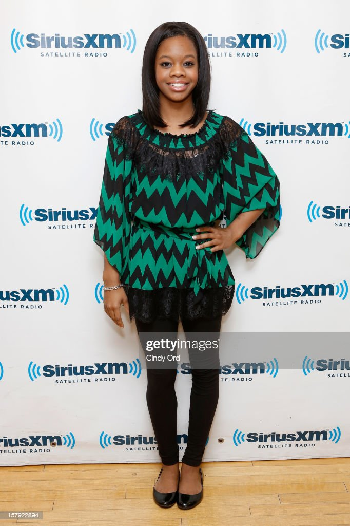 Olympic gold medalist Gabby Douglas visits the SiriusXM Studios on December 7, 2012 in New York City.