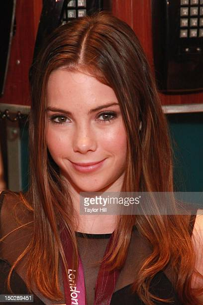 Olympic gold medalist gymnast McKayla Maroney rings the closing bell at the New York Stock Exchange on August 14 2012 in New York City