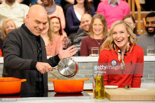 THE CHEW Olympic gold medalist Jamie Anderson was the guest today Thursday March 1 2108 on Walt Disney Television via Getty Images's The Chew The...