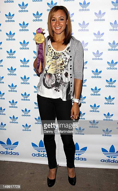 Olympic Gold Medalist Jessica Ennis attends The Stone Roses Adidas secret gig held at Adidas Underground on August 6 2012 in London England