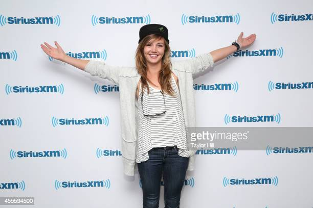 Olympic gold medalist Kaitlyn Farrington visits the SiriusXM Studios on September 17 2014 in New York City