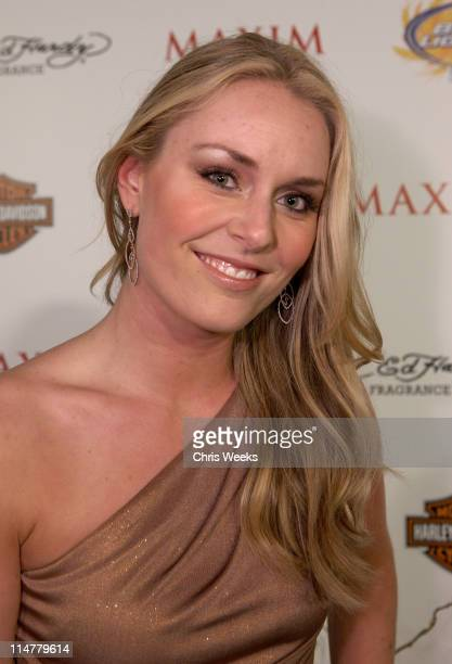 Olympic gold medalist Lindsey Vonn arrives at the 11th annual Maxim Hot 100 Party with HarleyDavidson ABSOLUT VODKA Ed Hardy Fragrances and ROGAINE...