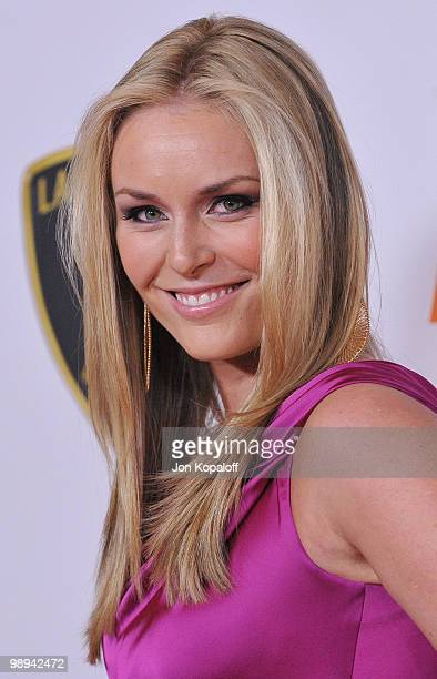 Olympic Gold Medalist Lindsey Vonn arrives at the 17th Annual Race To Erase MS Gala at the Hyatt Regency Century Plaza on May 7 2010 in Century City...