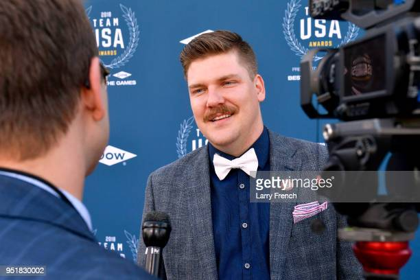 Olympic Gold Medalist Matt Hamilton attends the Team USA Awards at the Duke Ellington School of the Arts on April 26 2018 in Washington DC