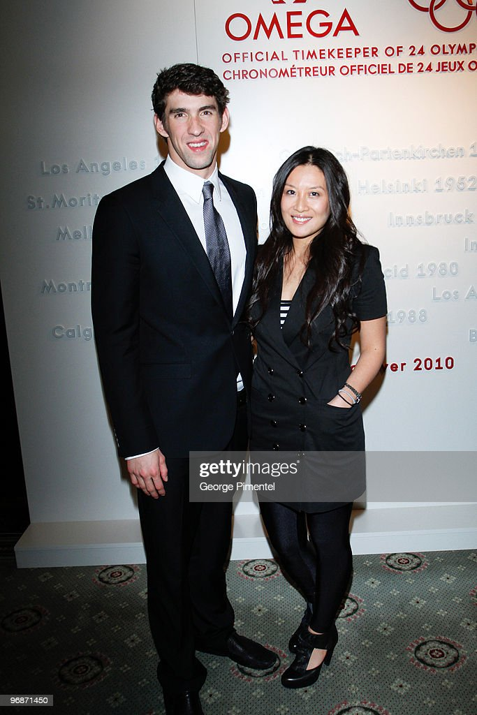 Olympic Gold Medalist Michael Phelps and ETalk host Laney Lui attend the OMEGA Cocktail Celebration at the Fairmont Hotel on February 18, 2010 in Vancouver, Canada.
