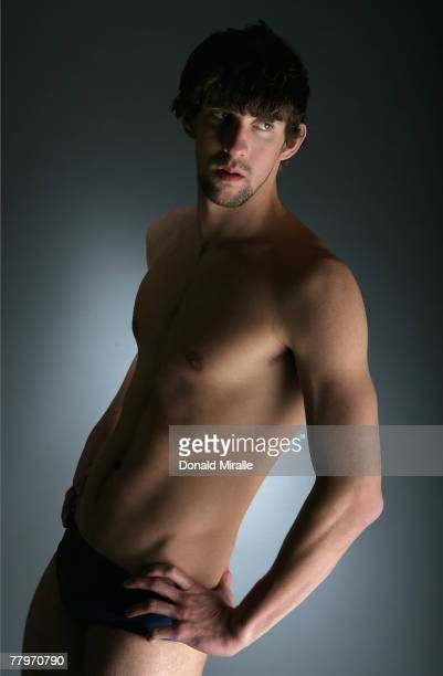 Olympic gold medalist Michael Phelps poses for a portrait prior to the Fourth Annual Golden Goggles Awards at the Beverly Hilton Hotel on November 18...