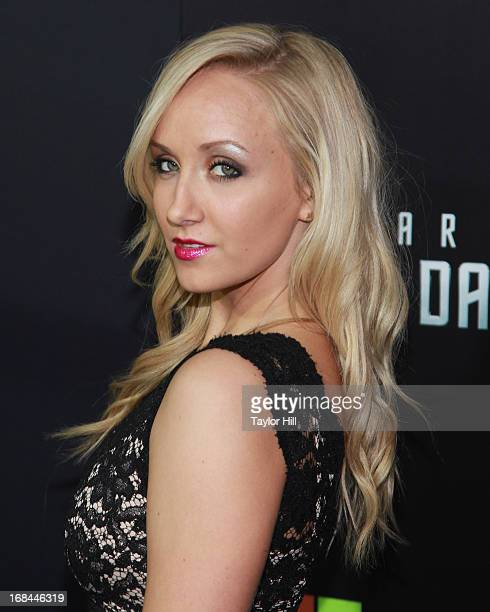 Olympic gold medalist Nastia Liukin attends the Star Trek Into Darkness screening at AMC Loews Lincoln Square on May 9 2013 in New York City