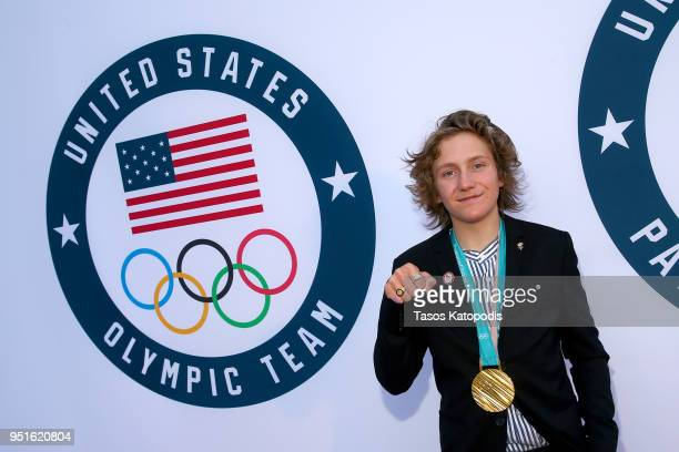 Olympic Gold Medalist Red Gerard attends the Team USA Awards at the Duke Ellington School of the Arts on April 26 2018 in Washington DC
