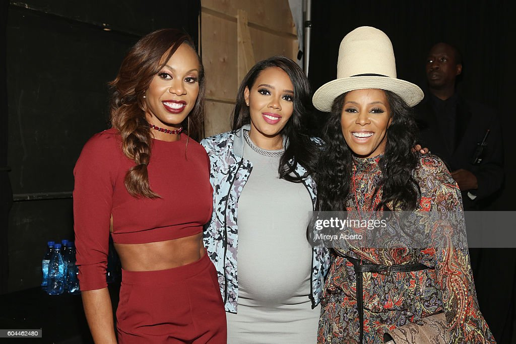 Olympic Gold medalist Sanya Richards Ross, fashion designer Angela Simmons and celebrity stylist June Ambrose attend the Vipe Activewear Collection with Angela Simmons fashion show during Style360 NYFW September 2016 at Metropolitan West on September 13, 2016 in New York City.