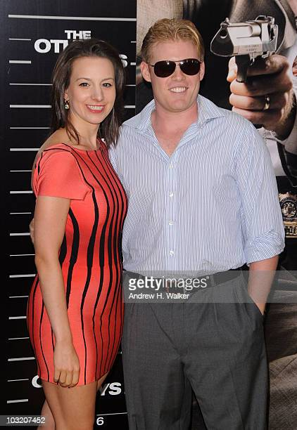 Olympic Gold Medalist Sarah Hughes and Andrew Giuliani attend the New York premiere of The Other Guys at the Ziegfeld Theatre on August 2 2010 in New...