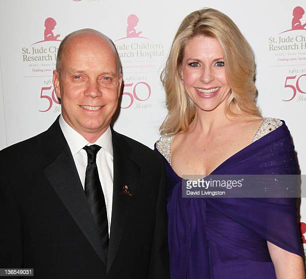 Olympic gold medalist Scott Hamilton and wife Tracie Hamilton attend the 50th anniversary celebration for St Jude Children's Research Hospital at The...