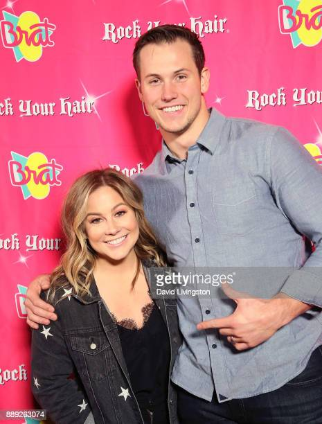 Olympic Gold medalist Shawn Johnson East and husband football player Andrew East attend social media influencer Annie LeBlanc's 13th birthday party...