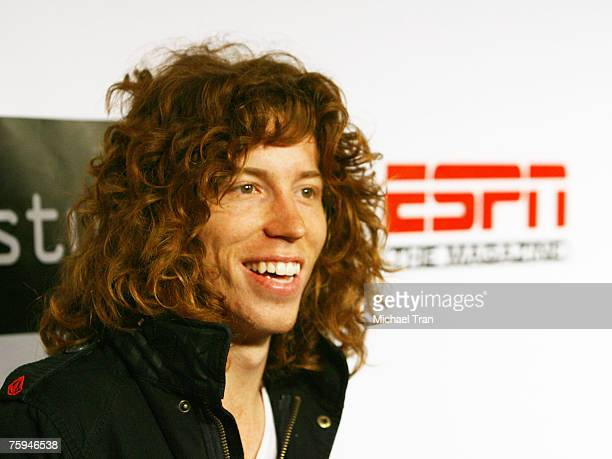 Olympic Gold Medalist Snowboader Shaun White arrives at the Disturbia DVD release party at The Standard Hotel on August 2 2007 in Los Angeles...