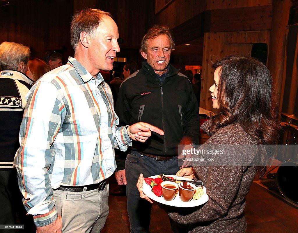Olympic Gold Medalist Tommy Moe, Robert F. Kennedy Jr. and actress Rosie Perez attend the Deer Valley Celebrity Skifest at Deer Valley Resort on December 7, 2012 in Park City, Utah.