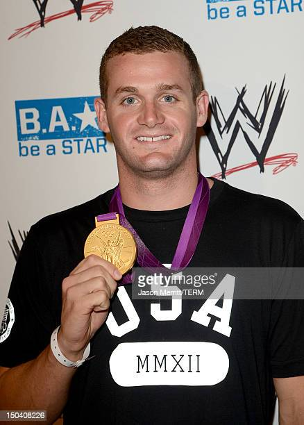 Olympic gold medalist Tyler Clary attends the WWE SummerSlam VIP Kick-Off Party at Beverly Hills Hotel on August 16, 2012 in Beverly Hills,...