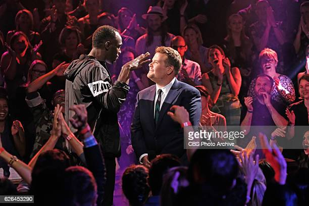 Olympic gold medalist Usain Bolt during Drop the Mic with James Corden during The Late Late Show with James Corden Wednesday November 23 On The CBS...
