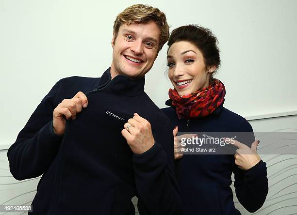 Olympic gold medalists and airweave ambassadors Charlie White and Meryl Davis formally open Rockefeller Center's iconic ice rink on October 13 2015...