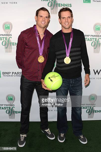 Olympic Gold Medalists Bob and Mike Bryan attend the 13th Annual BNP PARIBAS TASTE OF TENNIS benefitting New York Junior Tennis Learning at the W New...