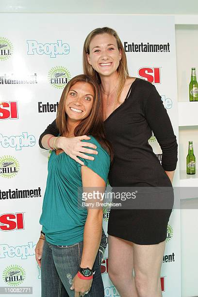 Olympic gold medalists Misty May and Kerri Walsh at the Miller Chill Presents Entertainment Weekly People and Sports Illustrated's Winter Heat Party...
