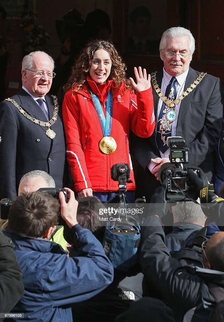 Amy Williams Returns Home To A Heroes Welcome