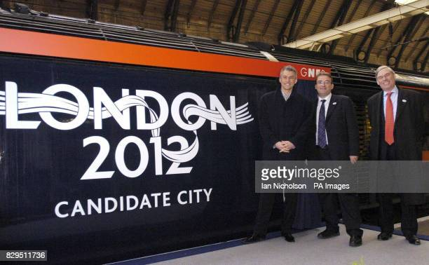 Olympic gold medallist and triple jump world record holder Jonathan Edwards is joined by Transport Minister Tony McNulty centre and GNER Chief Exec...