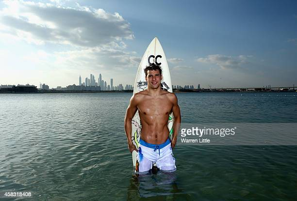 Olympic gold medallist Chad Le Clos of South Africa the 2014 FINA World Series Champion who today launched his own brand of surf wear C le C with...