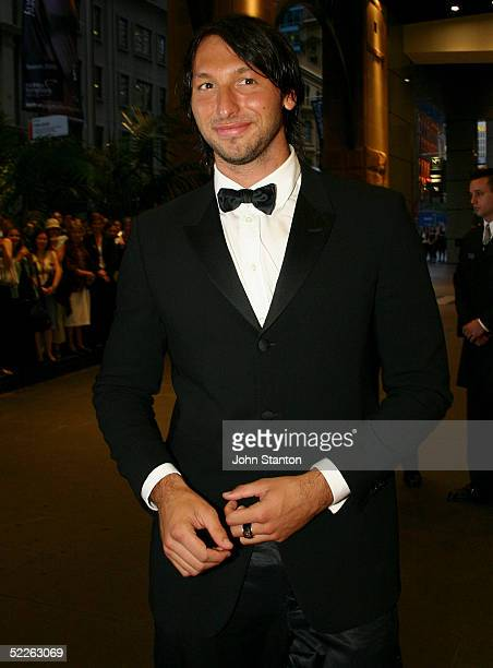 Olympic gold medallist swimmer Ian Thorpe attends the Australian Red Cross 90th Anniversary Gala at the Westin Hotel on March 2 2005 in Sydney...