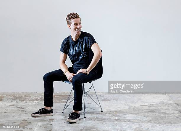 Olympic gold medalwinning snowboarder and entrepreneur Shaun White is photographed for Los Angeles Times on August 9 2016 in Los Angeles California...
