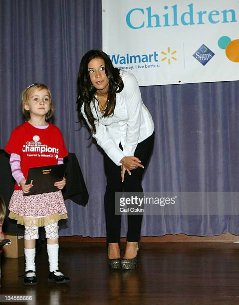 Olympic gymnast Alicia Sacramone celebrates Walmart and Sam's Club and visits Sara at Children's Hospital Boston on April 12 2011 in Boston...