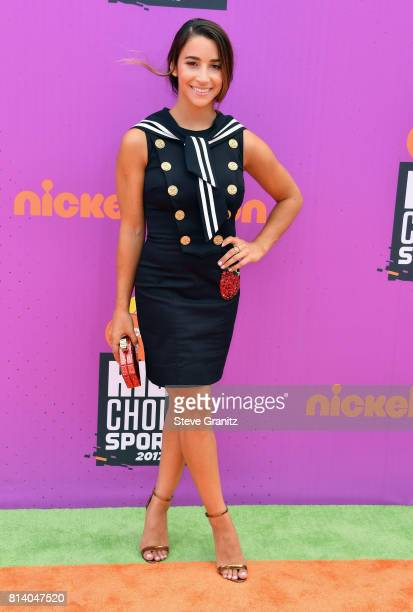 Olympic gymnast Aly Raisman attends Nickelodeon Kids' Choice Sports Awards 2017 at Pauley Pavilion on July 13, 2017 in Los Angeles, California.