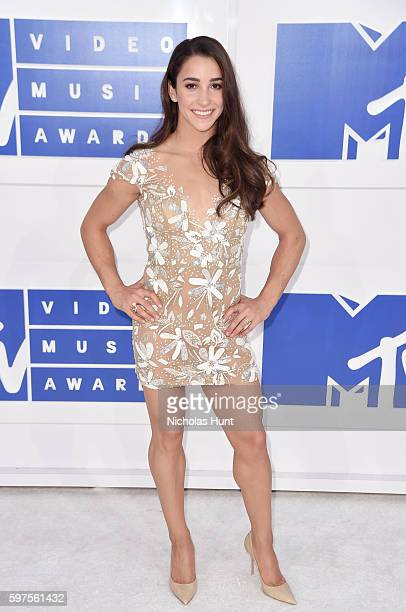 Olympic gymnast Aly Raisman attends the 2016 MTV Video Music Awards at Madison Square Garden on August 28 2016 in New York City