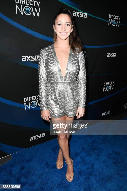 Olympic gymnast Aly Raisman attends the 2017 DIRECTV NOW Super Saturday Night Concert at Club Nomadic on February 4 2017 in Houston Texas