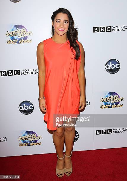 Olympic Gymnast Aly Raisman attends the 'Dancing With The Stars' 300th episode after party on May 14 2013 in Los Angeles California